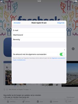 Apple ipad-mini-retina-met-ios-11-model-a1490 - Applicaties - Account aanmaken - Stap 9