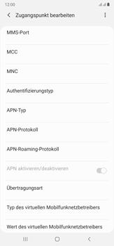 Samsung Galaxy Note 20 Ultra 5G - Internet und Datenroaming - Manuelle Konfiguration - Schritt 13