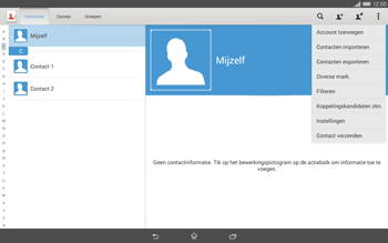 Sony Xperia Tablet Z2 4G (SGP521) - Contacten en data - Contacten kopiëren van toestel naar SIM - Stap 5
