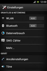 Sony Xperia E - WLAN - Manuelle Konfiguration - Schritt 4