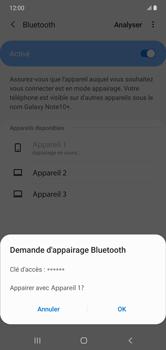 Samsung Galaxy Note 10+ - Internet et connexion - Connexion avec un équipement multimédia via Bluetooth - Étape 9