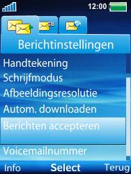 Sony Ericsson W100i Spiro - MMS - probleem met ontvangen - Stap 10