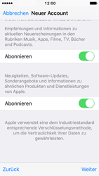 Apple iPhone SE - iOS 10 - Apps - Konto anlegen und einrichten - Schritt 17