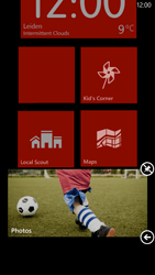 HTC Windows Phone 8X - Getting started - Personalising your Start screen - Step 7