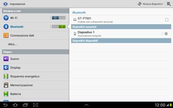 Samsung Galaxy Tab 2 10.1 - Bluetooth - Collegamento dei dispositivi - Fase 8