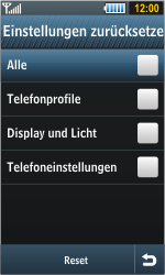 Samsung S8000 Jet - Fehlerbehebung - Handy zurücksetzen - Schritt 7