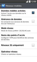LG F70 - Internet et connexion - Activer la 4G - Étape 8