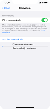 Apple iPhone 12 - toestel resetten - back-up maken met jouw account - stap 15