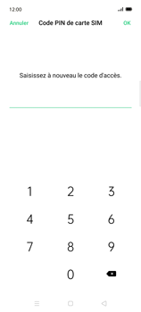 Oppo Find X2 Lite - Sécuriser votre mobile - Personnaliser le code PIN de votre carte SIM - Étape 12