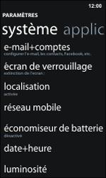 Nokia Lumia 800 / Lumia 900 - Réseau - Sélection manuelle du réseau - Étape 4