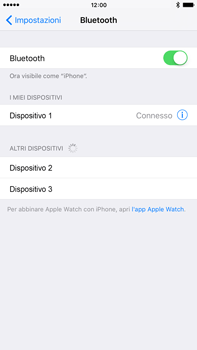 Apple iPhone 6 Plus iOS 9 - Bluetooth - Collegamento dei dispositivi - Fase 7