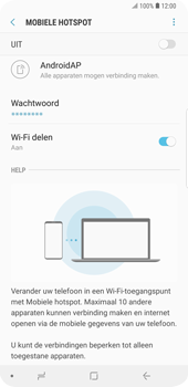 Samsung Galaxy S9 Plus (SM-G965F) - WiFi - Mobiele hotspot instellen - Stap 11