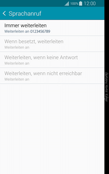 Samsung Galaxy Note Edge - Anrufe - Rufumleitungen setzen und löschen - 1 / 1