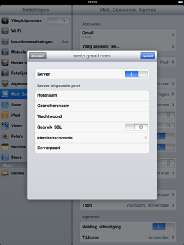 Apple iPad 2 - E-mail - handmatig instellen - Stap 12