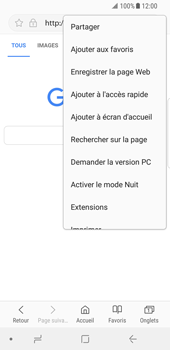 Samsung Galaxy S8 - Android Oreo - Internet - navigation sur Internet - Étape 7