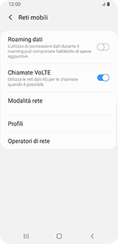 Samsung Galaxy S9 - Android Pie - Internet e roaming dati - Disattivazione del roaming dati - Fase 7