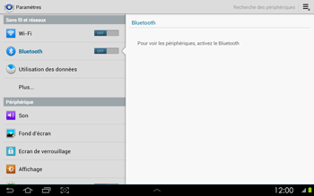 Samsung P5100 Galaxy Tab 2 10-1 - Bluetooth - connexion Bluetooth - Étape 7