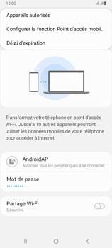 Samsung Galaxy A80 - Internet et connexion - Partager votre connexion en Wi-Fi - Étape 9