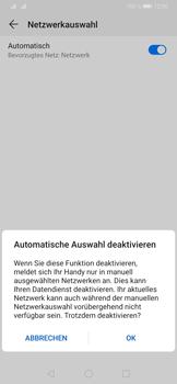 Huawei P30 - Netzwerk - Manuelle Netzwerkwahl - Schritt 7