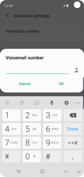 Samsung Galaxy S10e - Voicemail - Manual configuration - Step 12