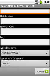 Alcatel OT-991 Smart - E-mail - Configuration manuelle - Étape 12