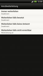 HTC One X - Anrufe - Rufumleitungen setzen und löschen - 6 / 10