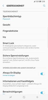 Samsung Galaxy S8 Plus - Datenschutz und Sicherheit - Zugangscode einrichten - 13 / 15