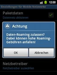 Samsung S5360 Galaxy Y - Ausland - Im Ausland surfen – Datenroaming - Schritt 9