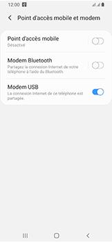 Samsung Galaxy A40 - Internet et connexion - Utiliser le mode modem par USB - Étape 9