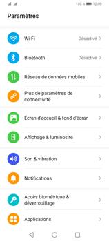 Huawei Y6P - Internet et connexion - Désactiver la connexion Internet - Étape 3