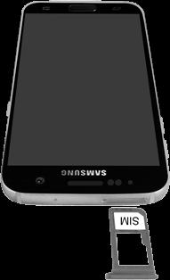 Samsung Galaxy S7 - Android Nougat - SIM-Karte - Einlegen - Schritt 4