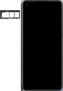 Oppo A53s - Premiers pas - Insérer la carte SIM - Étape 3