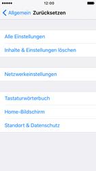 Apple iPhone 5 iOS 9 - Gerät - Zurücksetzen auf die Werkseinstellungen - Schritt 5