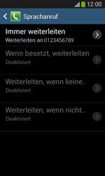 Samsung S7275 Galaxy Ace 3 - Anrufe - Rufumleitungen setzen und löschen - Schritt 11