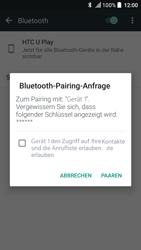HTC U Play - Bluetooth - Geräte koppeln - 0 / 0