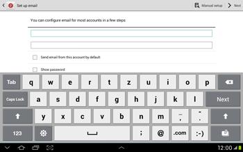 Samsung Galaxy Tab 2 10.1 - E-mail - Manual configuration - Step 5