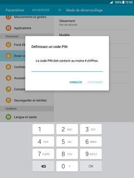 Samsung Galaxy Tab A - Sécuriser votre mobile - Activer le code de verrouillage - Étape 7