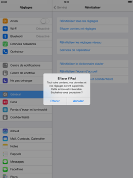 Apple iPad Air - Téléphone mobile - Réinitialisation de la configuration d