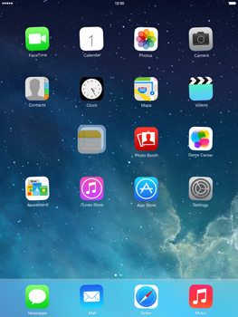 Apple iPad Air - Getting started - Personalising your Start screen - Step 4