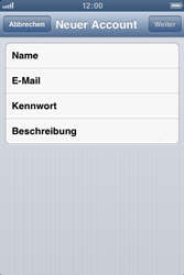 Apple iPhone 3GS - E-Mail - Manuelle Konfiguration - Schritt 7
