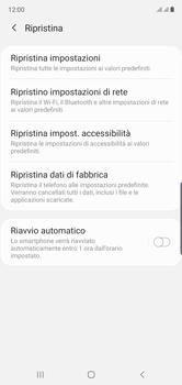Samsung Galaxy Note 10 - Dispositivo - Ripristino delle impostazioni originali - Fase 7