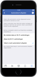 Apple iPhone 12 - apps - deactiveer automatisch afspelen in Facebook - stap 10