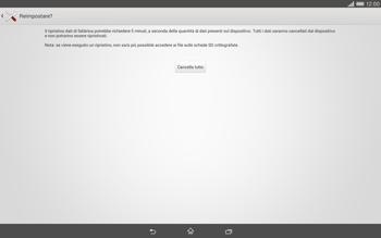 Sony Xperia Tablet Z2 LTE - Dispositivo - Ripristino delle impostazioni originali - Fase 8