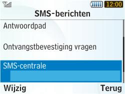 Samsung S3350 Chat 335 - SMS - handmatig instellen - Stap 6