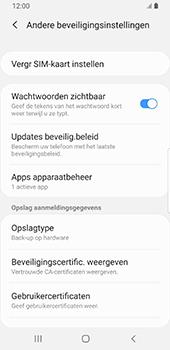 Samsung galaxy-s9-sm-g960f-android-pie - Beveiliging en ouderlijk toezicht - Hoe wijzig ik mijn SIM PIN-code - Stap 6