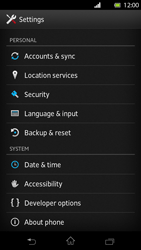 Sony Xperia T - Mobile phone - Resetting to factory settings - Step 4