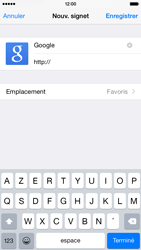 Apple iPhone 6 iOS 8 - Internet et roaming de données - Navigation sur Internet - Étape 8