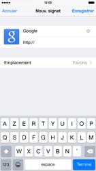 Apple iPhone 6 iOS 8 - Internet et connexion - Naviguer sur internet - Étape 7