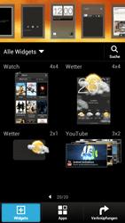 HTC One X - Startanleitung - Installieren von Widgets und Apps auf der Startseite - Schritt 4