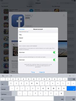Apple iPad Pro 12.9 inch met iOS9 (Model A1652) - Applicaties - Account aanmaken - Stap 15